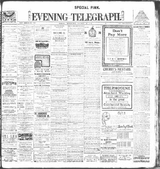 cover page of Northants Evening Telegraph published on October 19, 1904