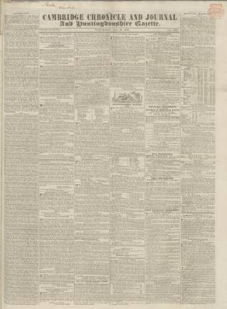 cover page of Cambridge Chronicle and Journal published on July 21, 1838
