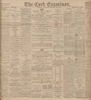 cover page of Cork Examiner published on January 28, 1901