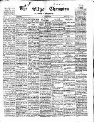 cover page of Sligo Champion published on September 25, 1858