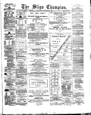 cover page of Sligo Champion published on January 22, 1887