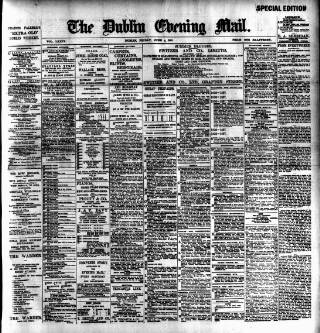 cover page of Dublin Evening Mail published on June 4, 1897