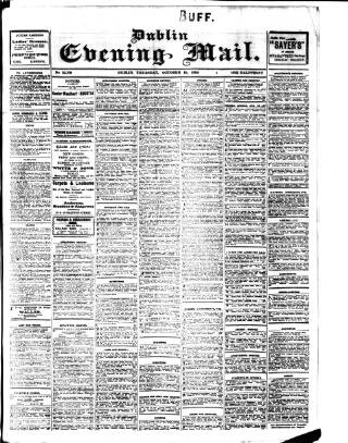 cover page of Dublin Evening Mail published on October 18, 1906