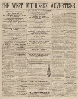 cover page of West Middlesex Advertiser and Family Journal published on February 19, 1859
