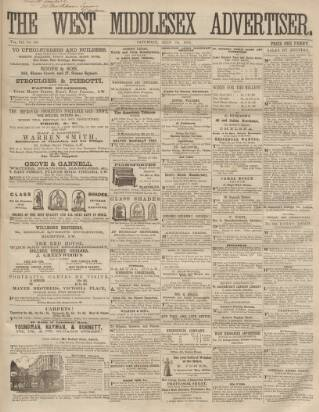 cover page of West Middlesex Advertiser and Family Journal published on July 19, 1862