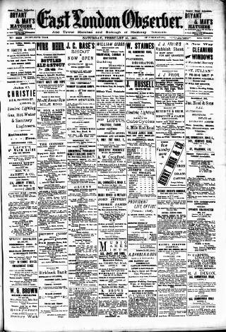 cover page of East London Observer published on February 16, 1901