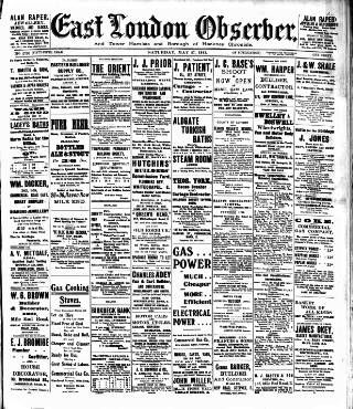 cover page of East London Observer published on May 27, 1911