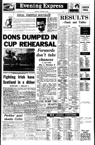 cover page of Aberdeen Evening Express published on February 25, 1967