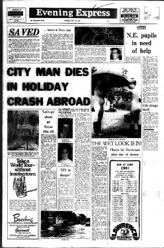 cover page of Aberdeen Evening Express published on July 15, 1975