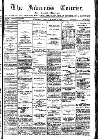 cover page of Inverness Courier published on October 17, 1905