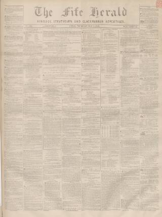 cover page of Fife Herald published on May 5, 1859