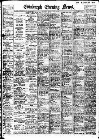 cover page of Edinburgh Evening News published on June 25, 1914