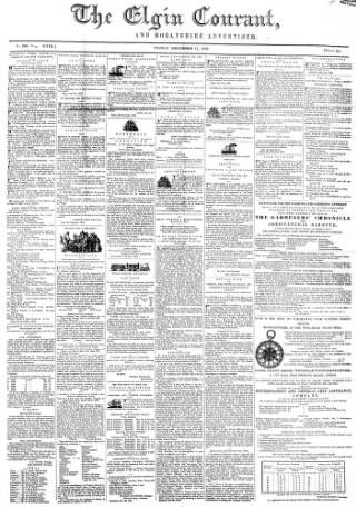 cover page of Elgin Courant, and Morayshire Advertiser published on December 17, 1852