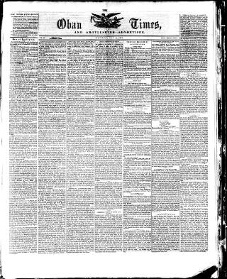 cover page of Oban Times, and Argyllshire Advertiser published on May 22, 1875