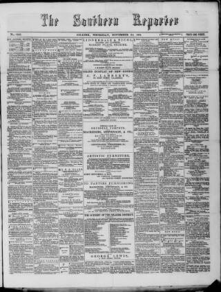 cover page of Southern Reporter published on November 24, 1881