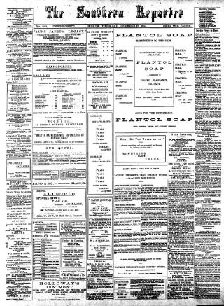 cover page of Southern Reporter published on December 17, 1903