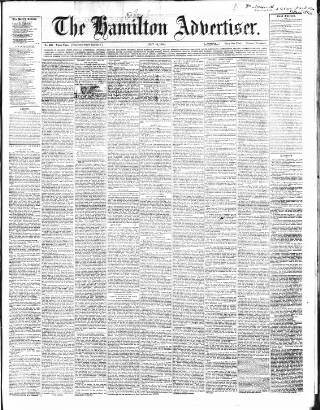 cover page of Hamilton Advertiser published on July 16, 1864