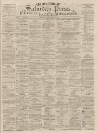 cover page of Dunfermline Saturday Press published on October 19, 1867