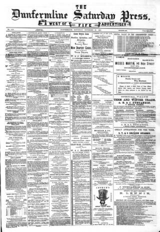 cover page of Dunfermline Saturday Press published on November 20, 1880