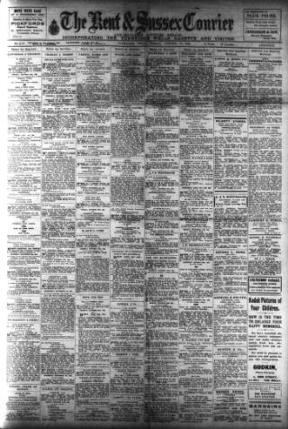 cover page of Kent & Sussex Courier published on October 20, 1922