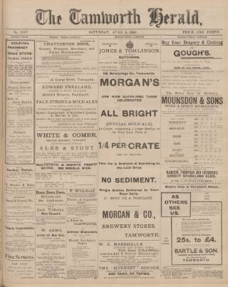 cover page of Tamworth Herald published on June 1, 1907