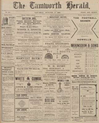 cover page of Tamworth Herald published on October 17, 1908