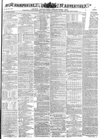 cover page of Hampshire Advertiser published on March 19, 1884