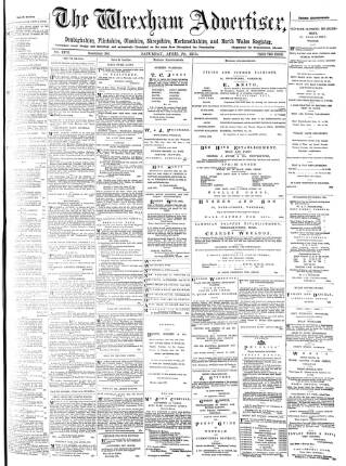 cover page of Wrexham Advertiser published on April 24, 1875