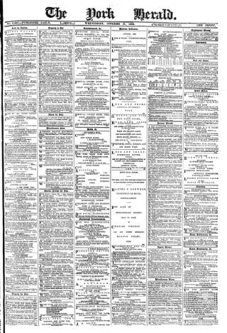 cover page of York Herald published on October 17, 1888