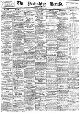 cover page of York Herald published on October 17, 1896