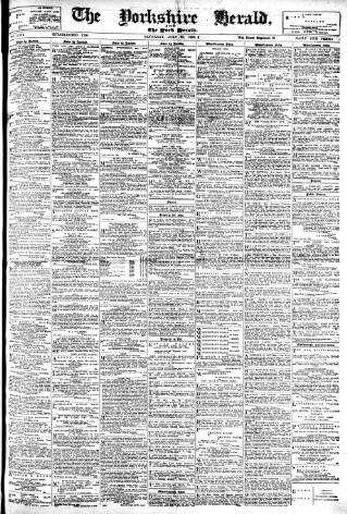 cover page of York Herald published on July 22, 1899
