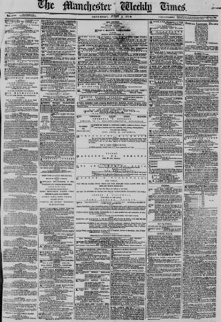 cover page of Manchester Times published on June 1, 1878