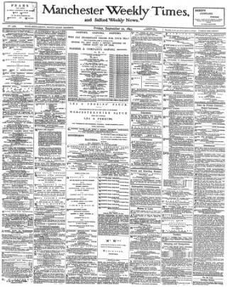 cover page of Manchester Times published on September 22, 1893