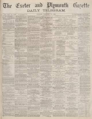 cover page of Exeter and Plymouth Gazette Daily Telegrams published on February 19, 1884