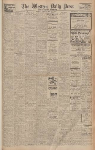 cover page of Western Daily Press published on May 22, 1945