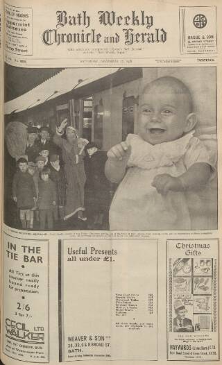 cover page of Bath Chronicle and Weekly Gazette published on December 17, 1938