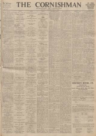 cover page of Cornishman published on April 19, 1945