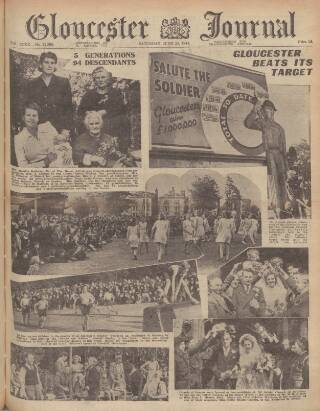 cover page of Gloucester Journal published on June 24, 1944