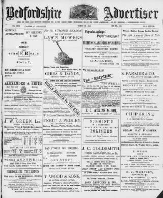 cover page of Luton Times and Advertiser published on July 18, 1902