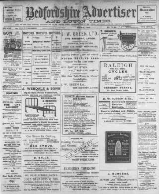 cover page of Luton Times and Advertiser published on April 24, 1908