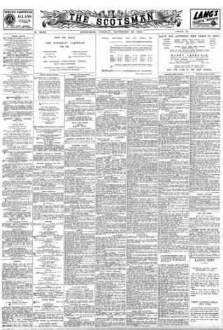 cover page of The Scotsman published on September 26, 1944