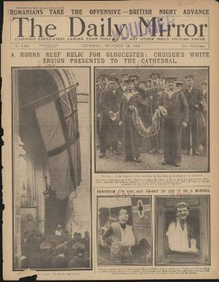 cover page of Daily Mirror published on October 19, 1916