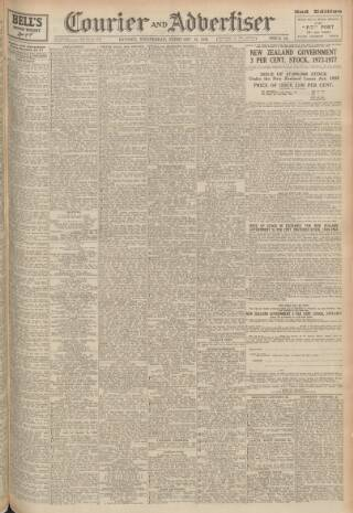 cover page of Dundee Courier published on February 16, 1949