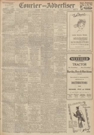 cover page of Dundee Courier published on June 1, 1950