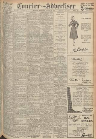 cover page of Dundee Courier published on August 23, 1951