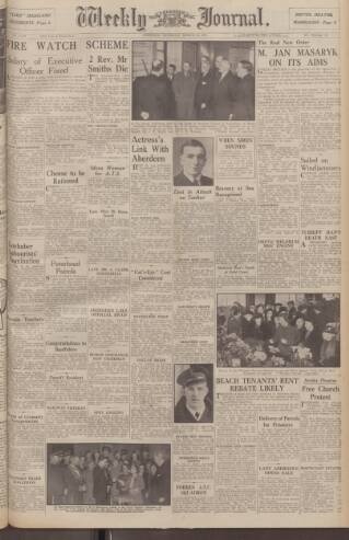 cover page of Aberdeen Weekly Journal published on March 20, 1941