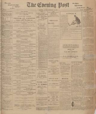 cover page of Dundee Evening Post published on February 16, 1900