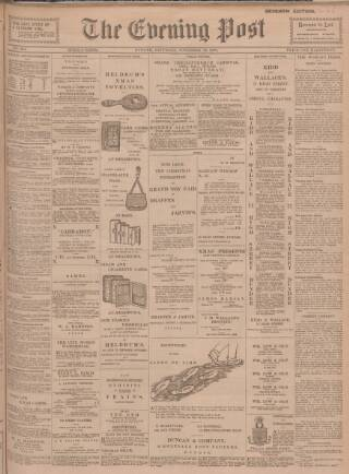 cover page of Dundee Evening Post published on November 24, 1900