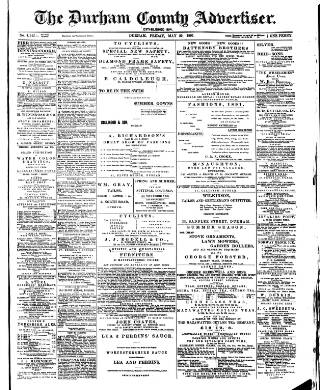 cover page of Durham County Advertiser published on May 29, 1891