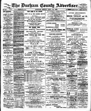 cover page of Durham County Advertiser published on September 20, 1901
